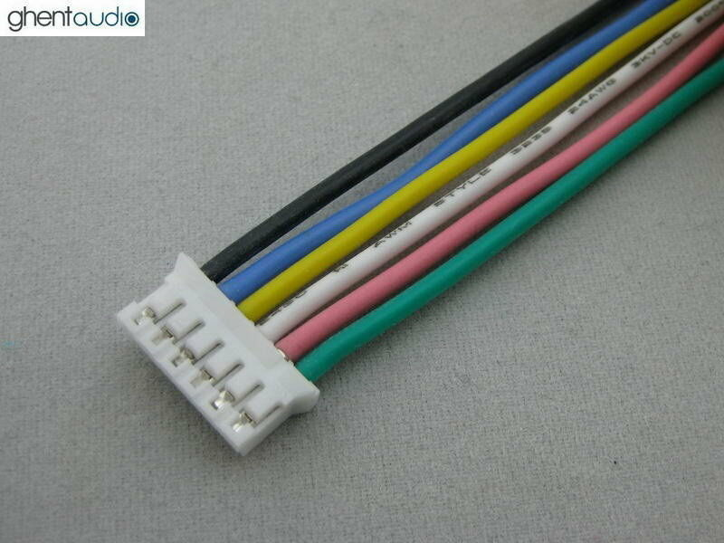 2pcs(30cm 1ft) JST PHR-6 UL Silicone Stranded Copper 24AWG cable ...