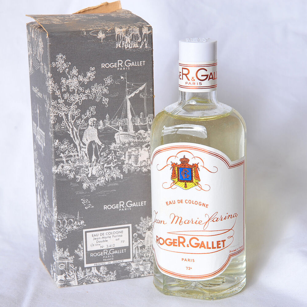 vintage roger gallet jean marie farina 4 oz eau de cologne double extrait ebay. Black Bedroom Furniture Sets. Home Design Ideas