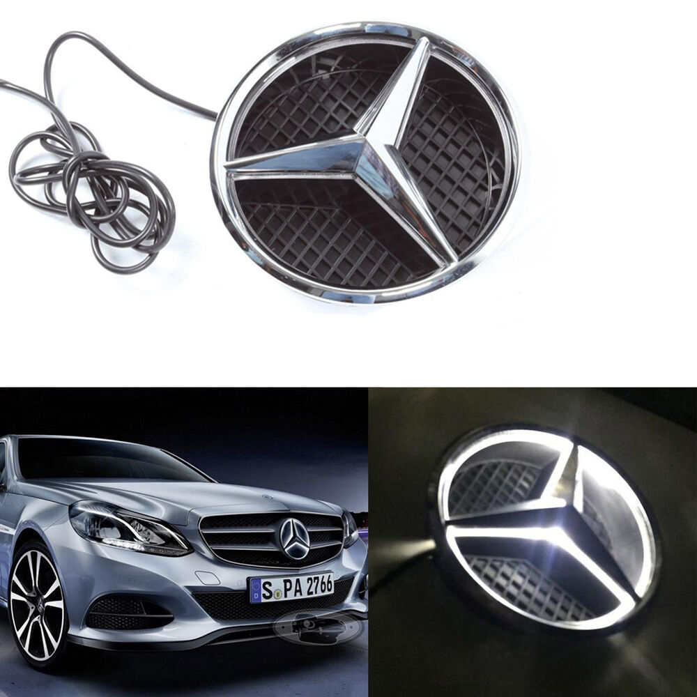 illuminated led light front grille grill star emblem for