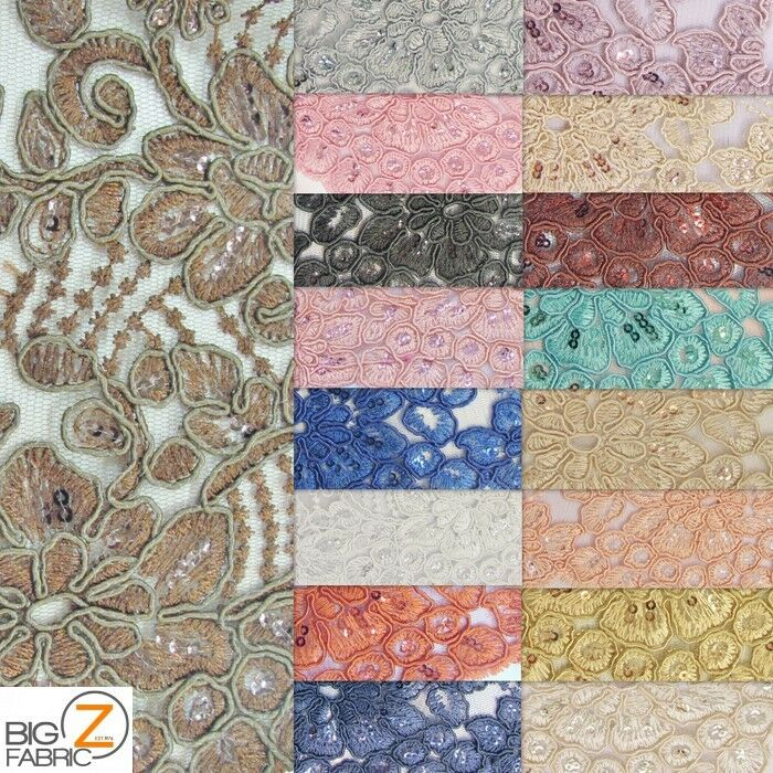 Anastasia Floral Sequins Lace Fabric By The Yard Dress