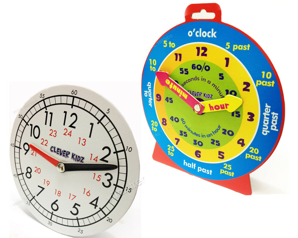 CHILDREN LEARNING 24HOURS CLOCK FOR KIDS LEARN TIME CLOCK EDUCATIONAL TOYS