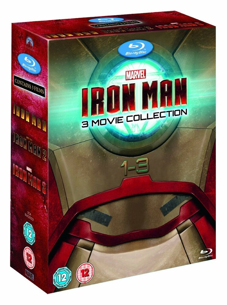 iron man 3 movie collection blu ray box set complete 1 3 trilogy avengers 8717418416690 ebay. Black Bedroom Furniture Sets. Home Design Ideas