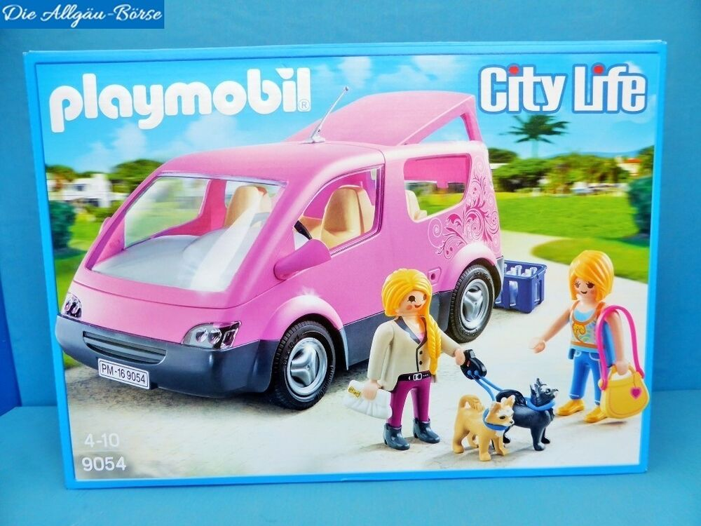 playmobil 9054 rosa city van kombi fahrzeug city life familie rc f hig neu mib ebay. Black Bedroom Furniture Sets. Home Design Ideas