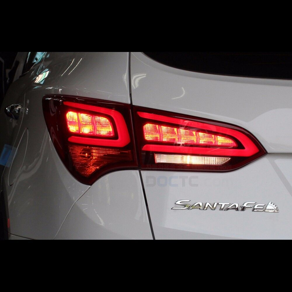 santa fe hyundai lights tail led sport rear lamps