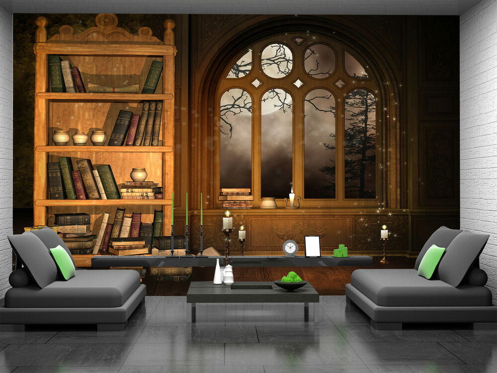 Wizards Library Wall Mural Photo Wallpaper GIANT DECOR