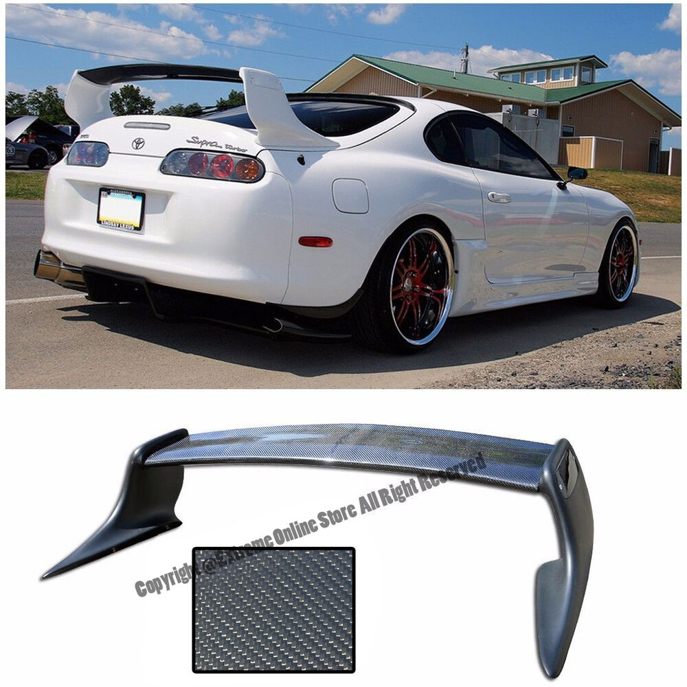 For 93 98 Toyota Supra T Style Carbon Fiber Rear Trunk