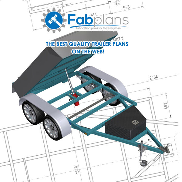 8 39 x5 39 tipper trailer plans build your own tandem axle for How to build a trailer plans free