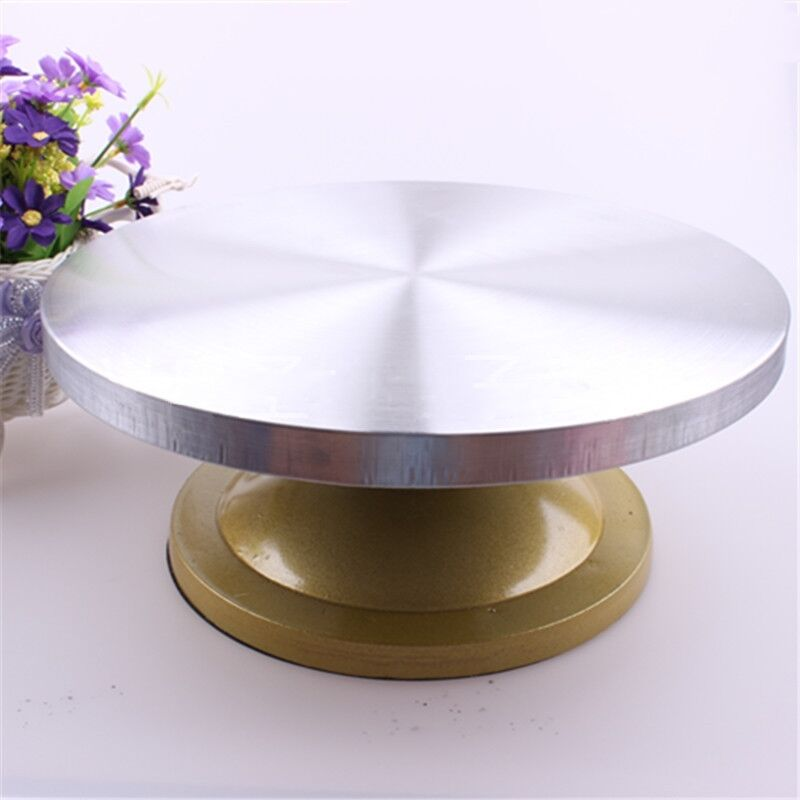 Cake Decorating Turntable Table Stand Rotating Swivel ...