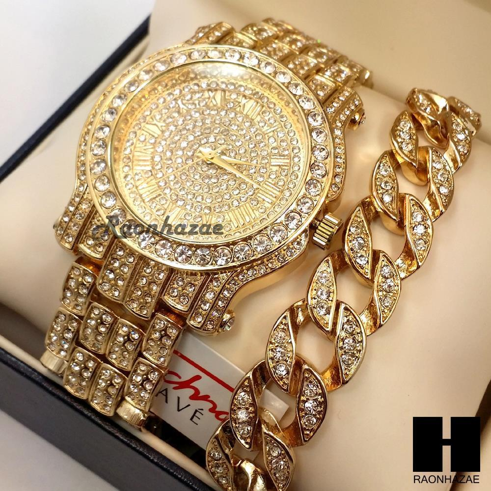 techno pave iced out gold finished lab cuban