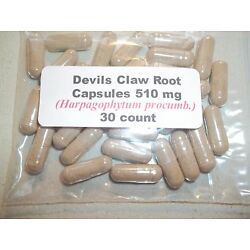 Devils Claw Root Powder Capsules (Harpagophytum procumbens) 510 mg - 30 Count