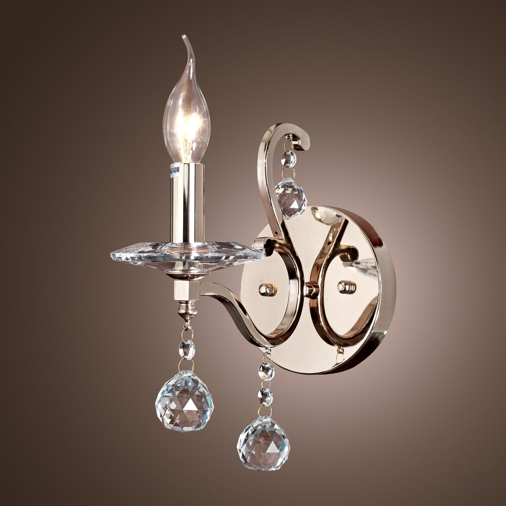 Modern Wall Mount Candle Light Crystal Porch Wall Sconce