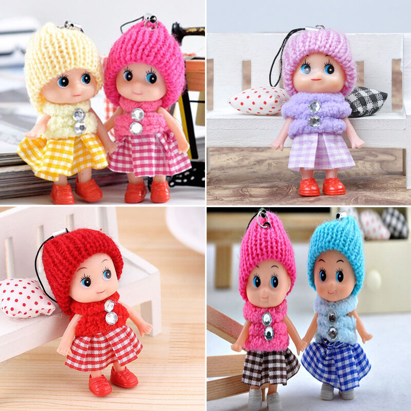 Small Toy Dolls : Pcs toys soft cute baby dolls mini doll girl mobile phone