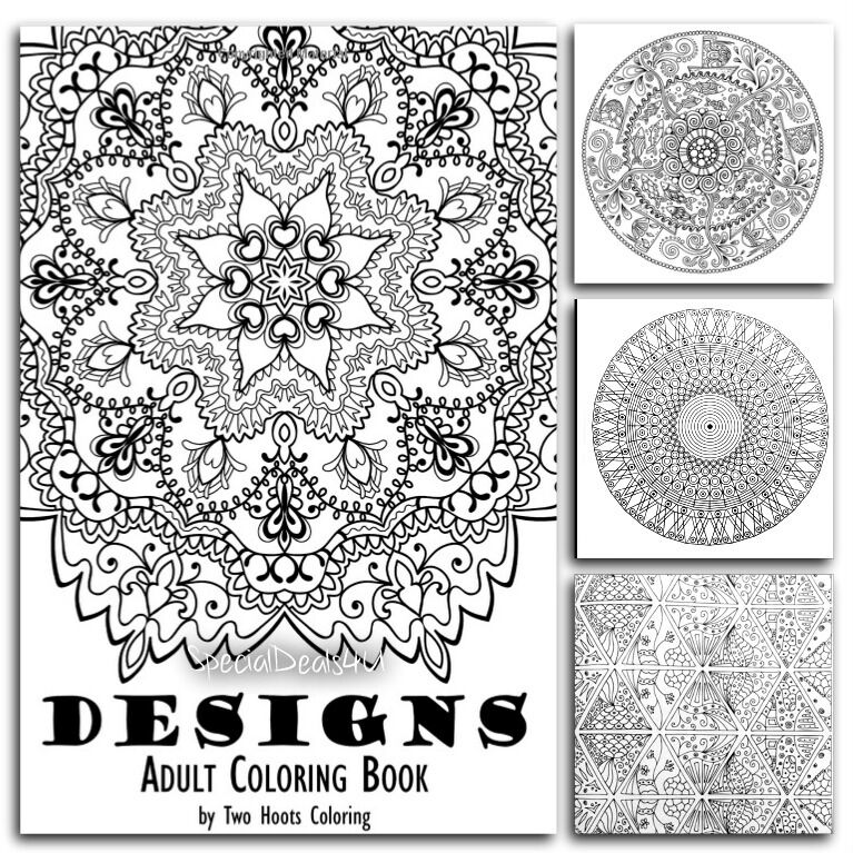 adults coloring book designs mandala beautiful patterns stress relief art paint 9780692591079 ebay. Black Bedroom Furniture Sets. Home Design Ideas
