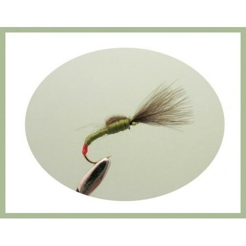 Shuttlecock Fishing Flies, 6 Olive Shuttlecocks, Choice of Sizes, Fly Fishing