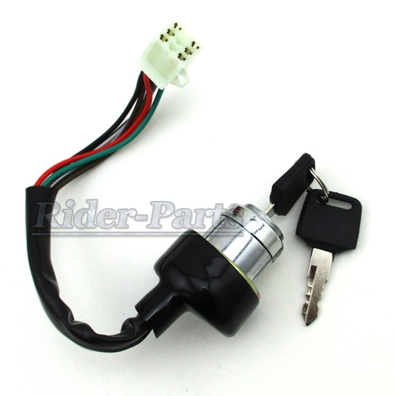 6 wires electric key switch for kazuma falcon 90cc 110cc. Black Bedroom Furniture Sets. Home Design Ideas