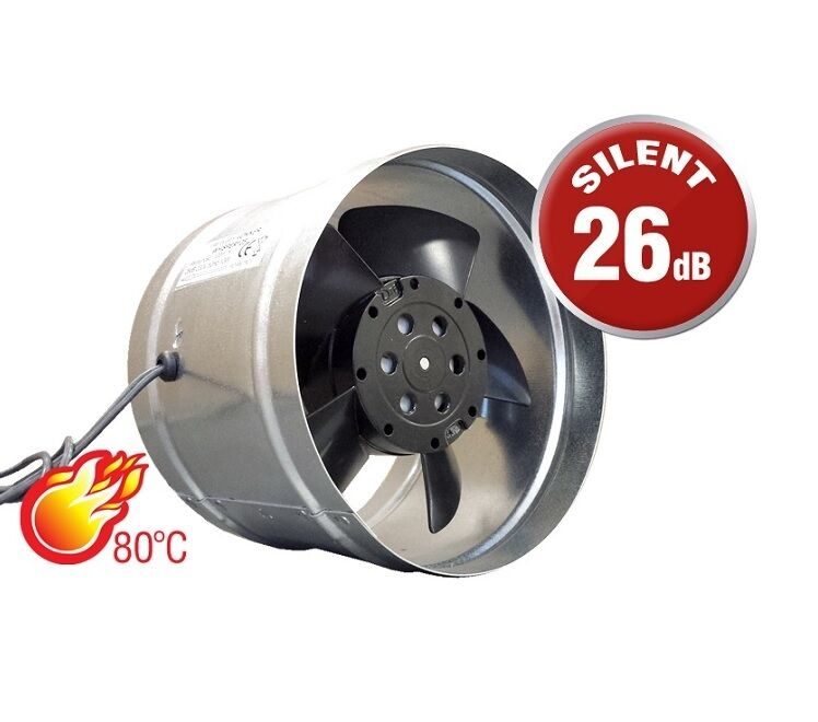 Chimney Liner Extractor Fan 125mm Ducting Stove Cooker