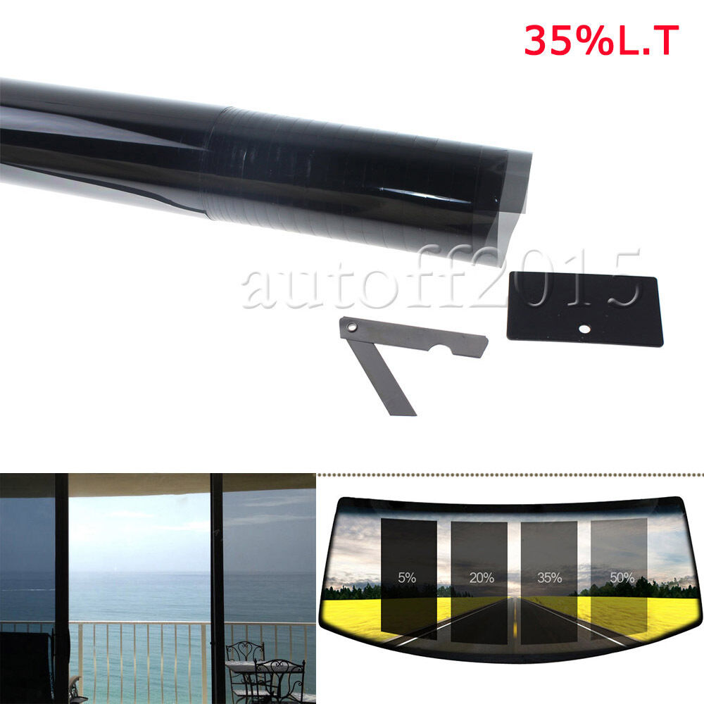 2ply 20 Quot X 10ft 35 Vlt Black Car Home Glass Window Tint