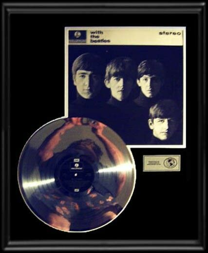 Beatles With The Beatles Gold Record Platinum Disc Rare