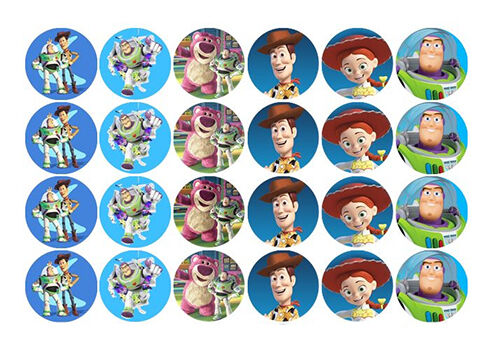 24 toy story edible wafer paper party cupcake cup cake decoration toppers images