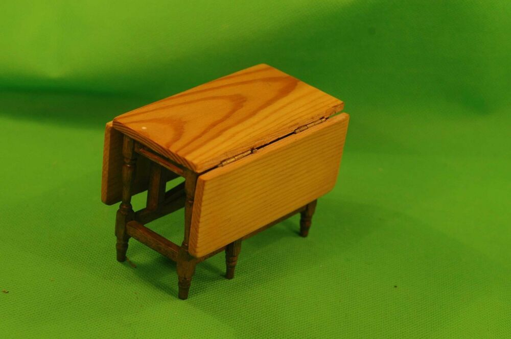 Wooden dolls 39 house dining kitchen table with flaps for Table exit fly