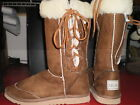 Ladies size 6 chestnut Lace up boot wool blend