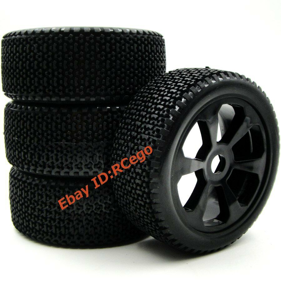 4pcs new rc 1 8 off road buggy tires hex 17mm wheels for. Black Bedroom Furniture Sets. Home Design Ideas