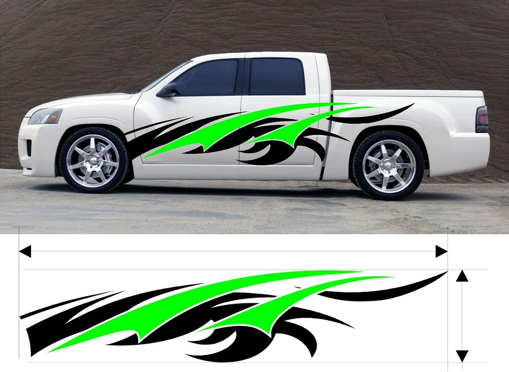 Custom Car Decals: VINYL GRAPHIC DECAL CAR TRUCK KIT CUSTOM SIZE COLOR