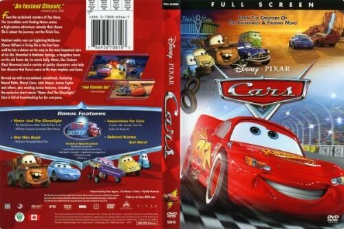 Walt disney pixar 39 s cars dvd full screen lightning mcqueen mater racing movie ebay - Image cars disney ...