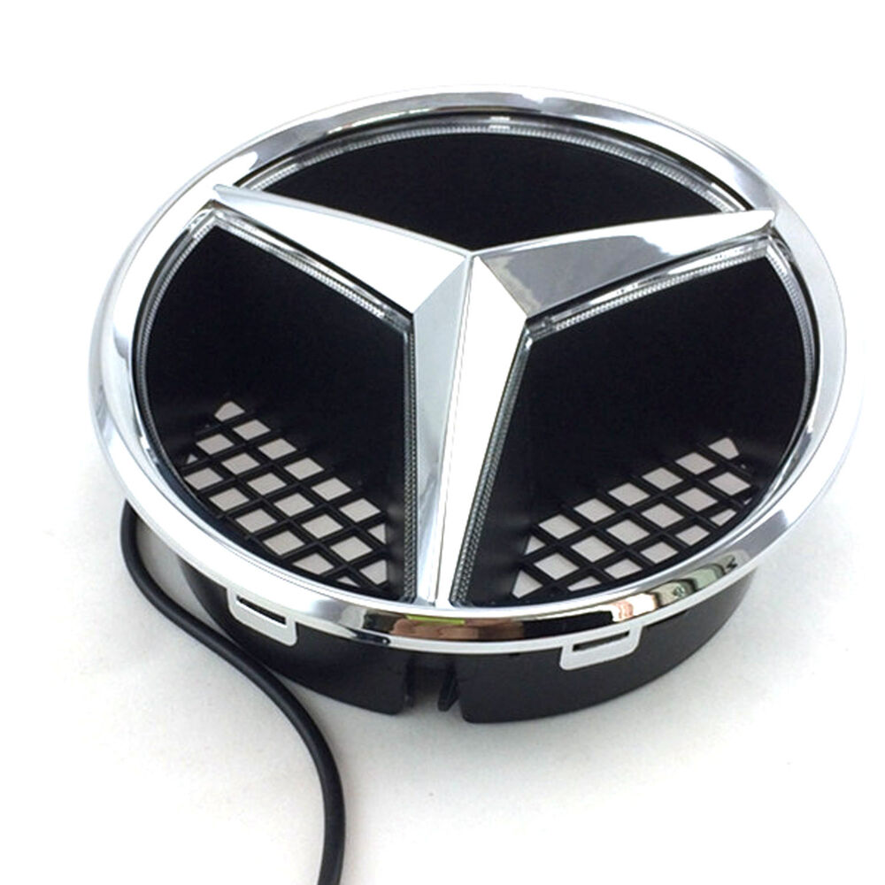 Front grille grill star emblem for mercedes benz 2006 2013 for Mercedes benz symbol light