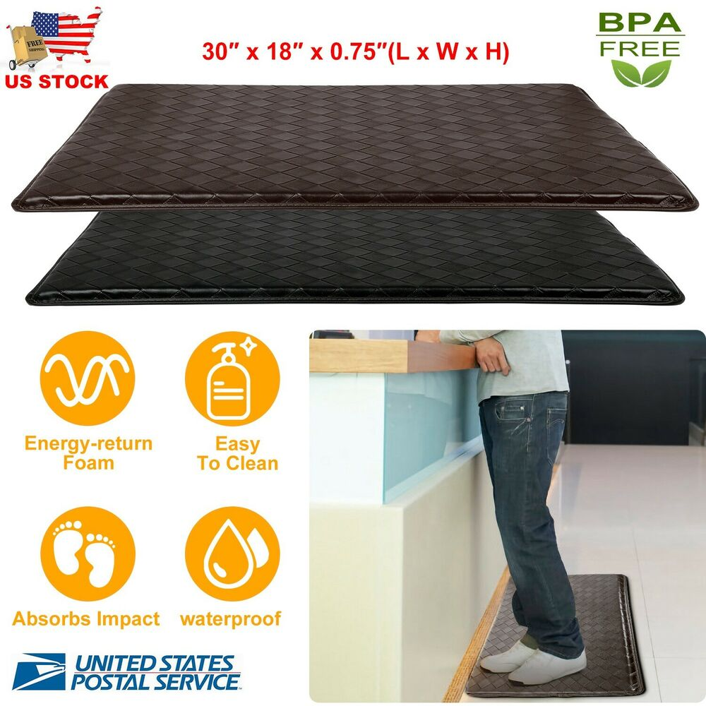 Modern Indoor Cushion Kitchen Rug Anti Fatigue Floor Mat
