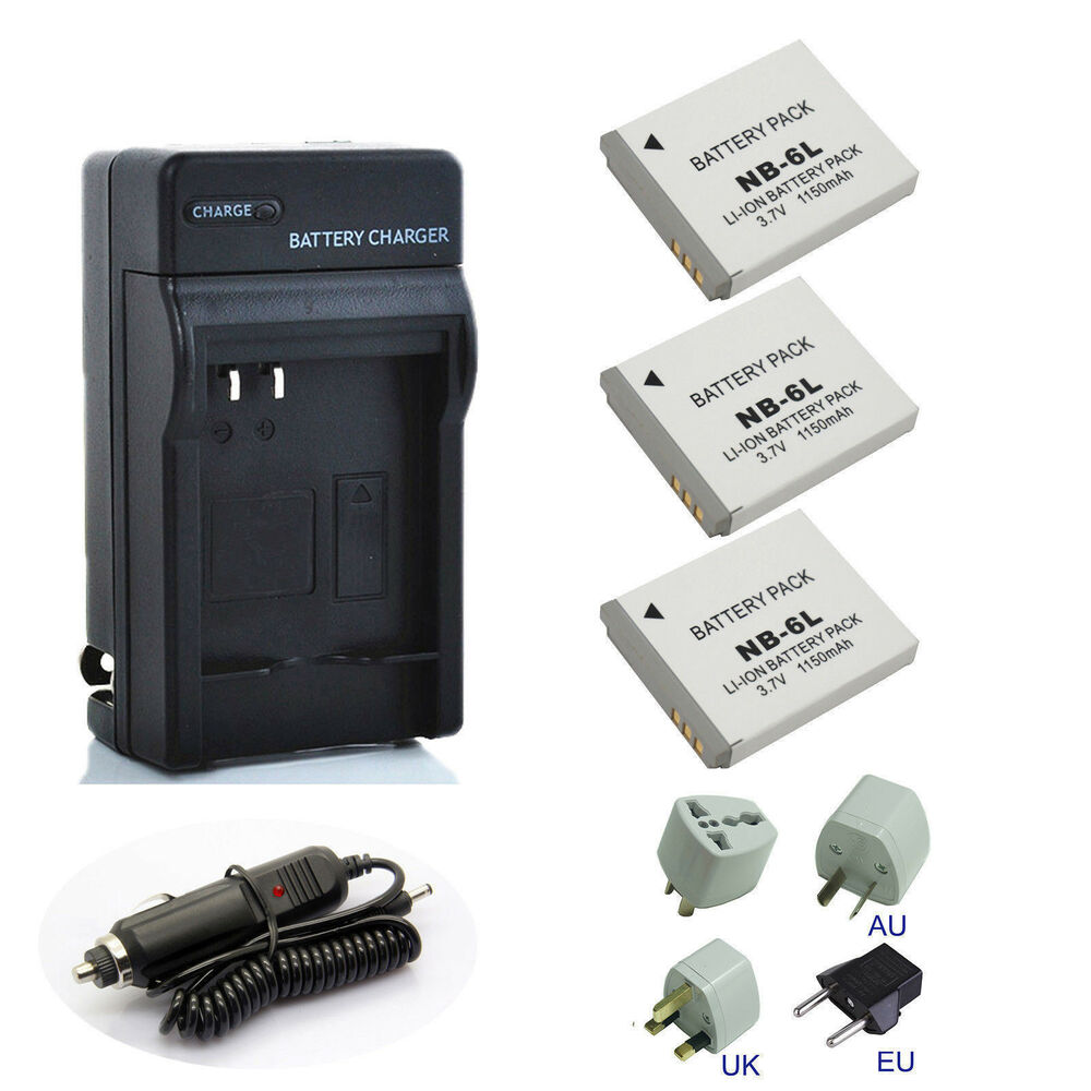 Canon Battery Charger Pack Nb 6lh For Powershot S120