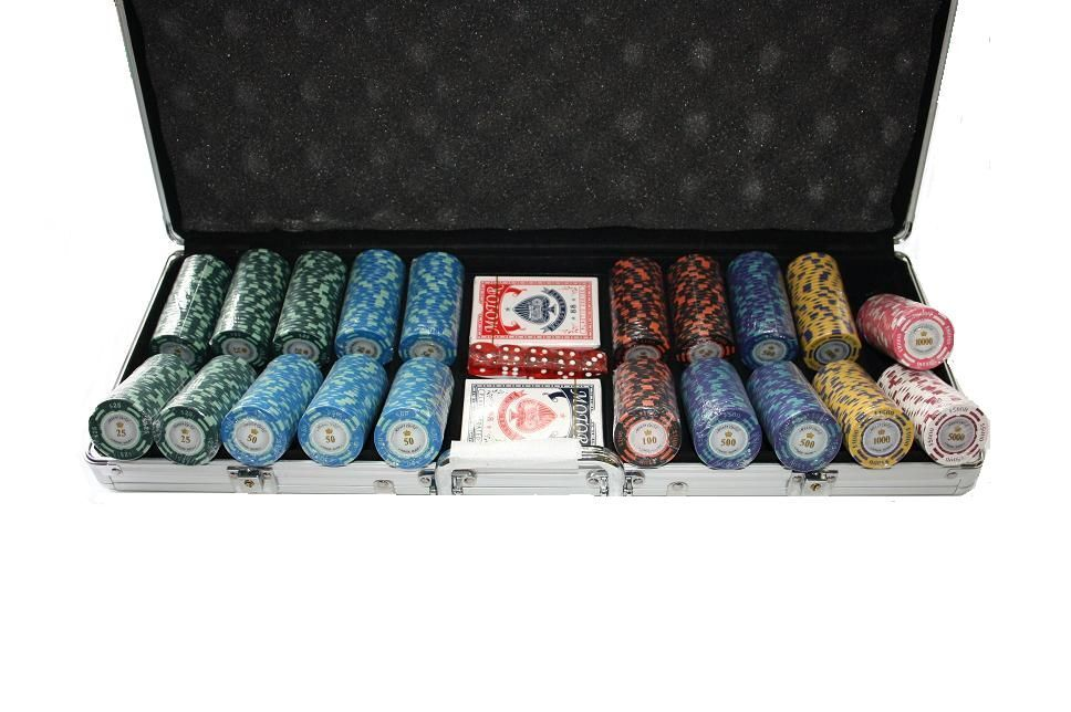 poker monte carlo dollar 500er pokerkoffer chips set pokerchips clay cash game ebay. Black Bedroom Furniture Sets. Home Design Ideas