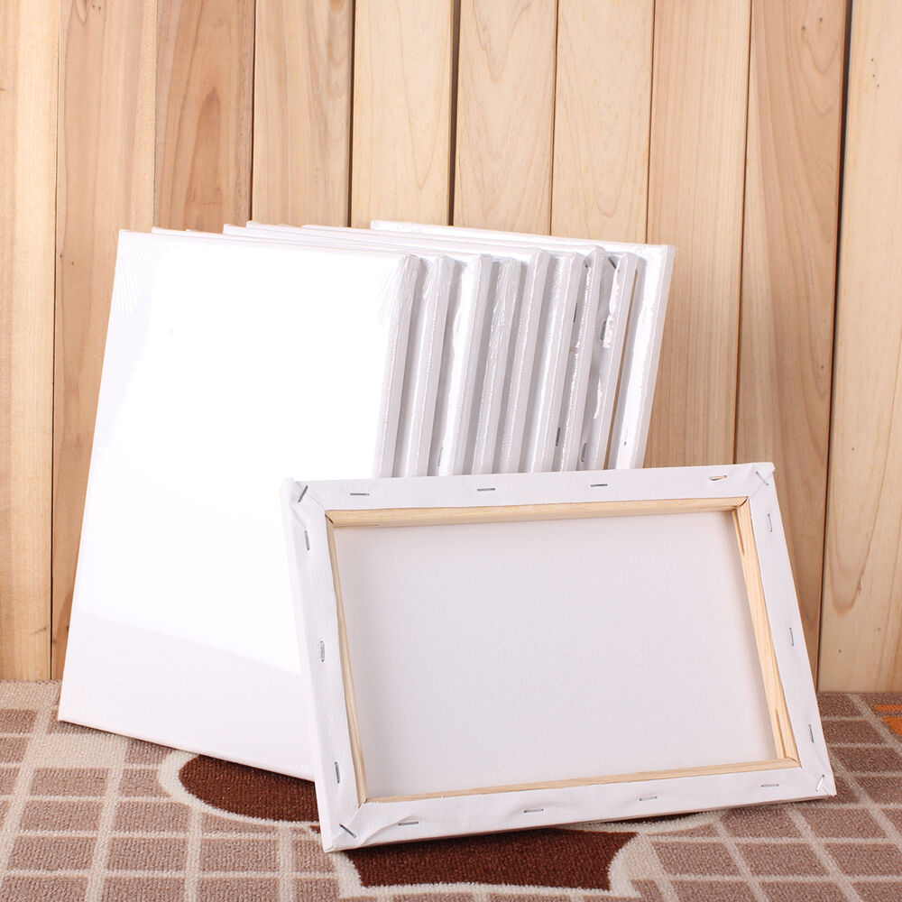 stretched blank drawing canvas art wood frame artist painting draw 5 size craft ebay. Black Bedroom Furniture Sets. Home Design Ideas