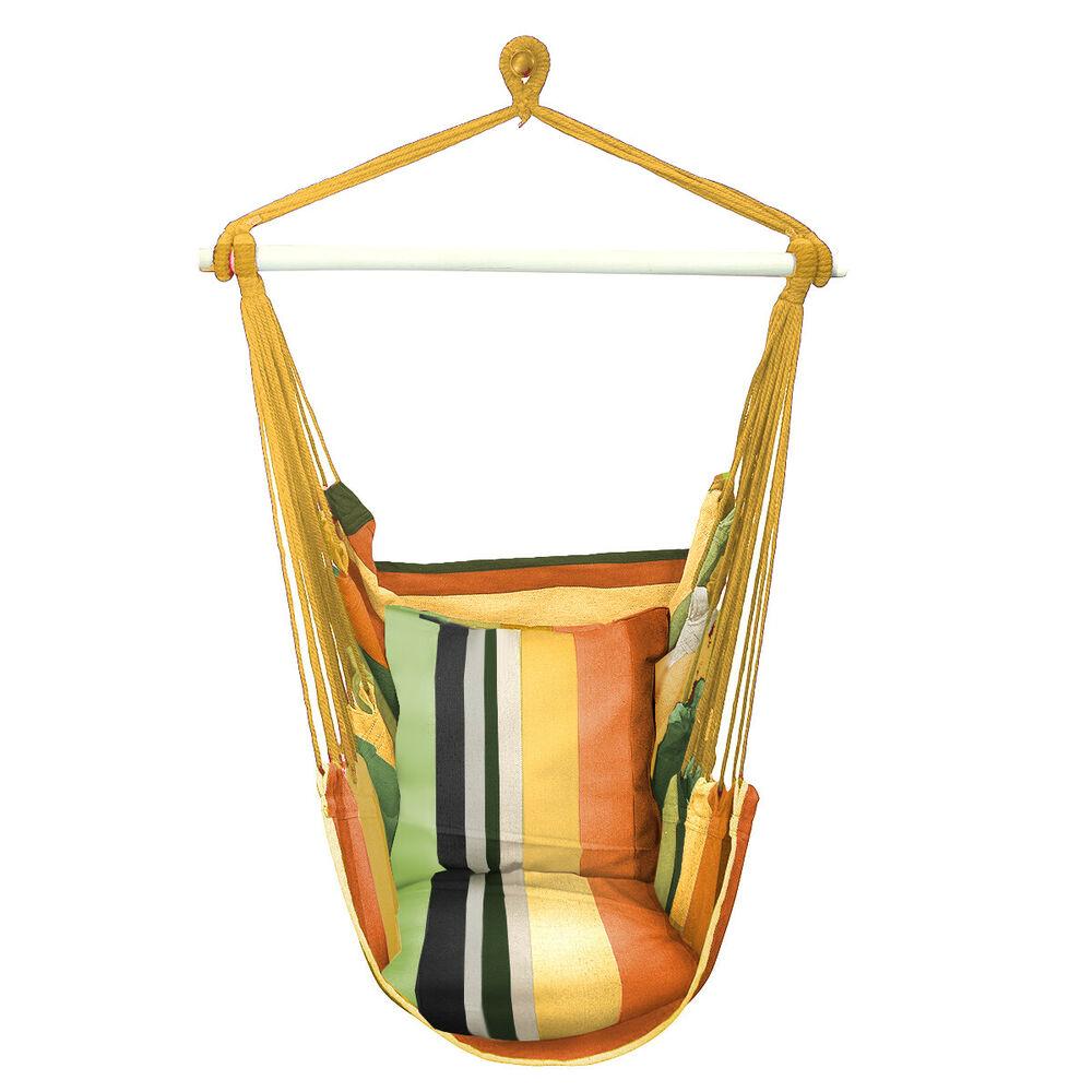 Sorbus Hanging Rope Hammock Chair Swing Seat For Any