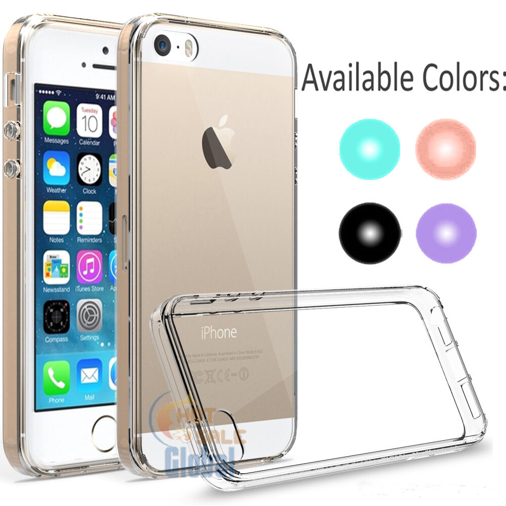 iphone 5 protective case hybrid bumper clear protective cover for iphone se 7609