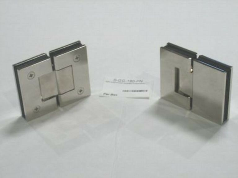 SHOWER DOOR HINGE GLASS TO GLASS 180 DEGREE EBay