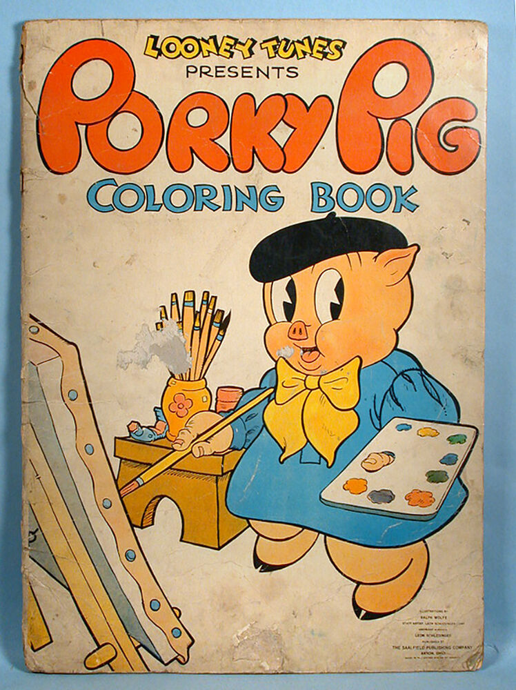 1938 Porky Pig Looney Tunes Leon Schlesinger Coloring Book