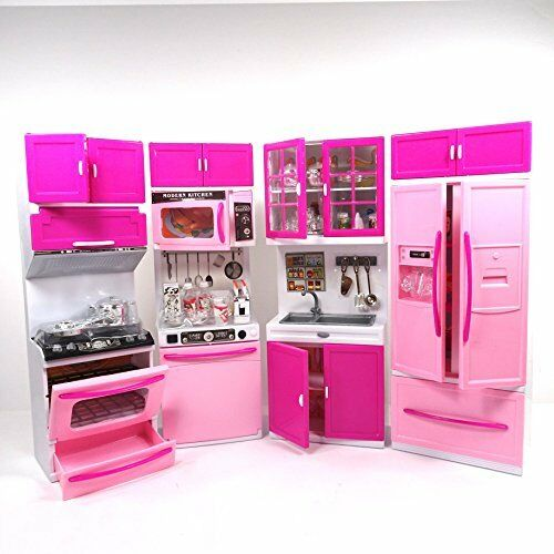 Env toys large kitchen play set toy pretend play kitchen for Toy kitchen set