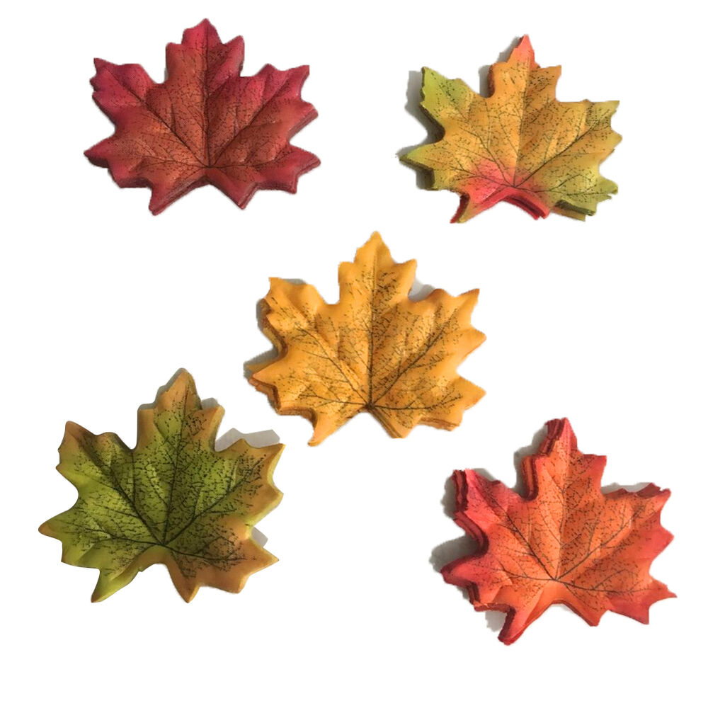 Artificial fall silk leaves wedding supplies autumn maple for Artificial leaves for decoration