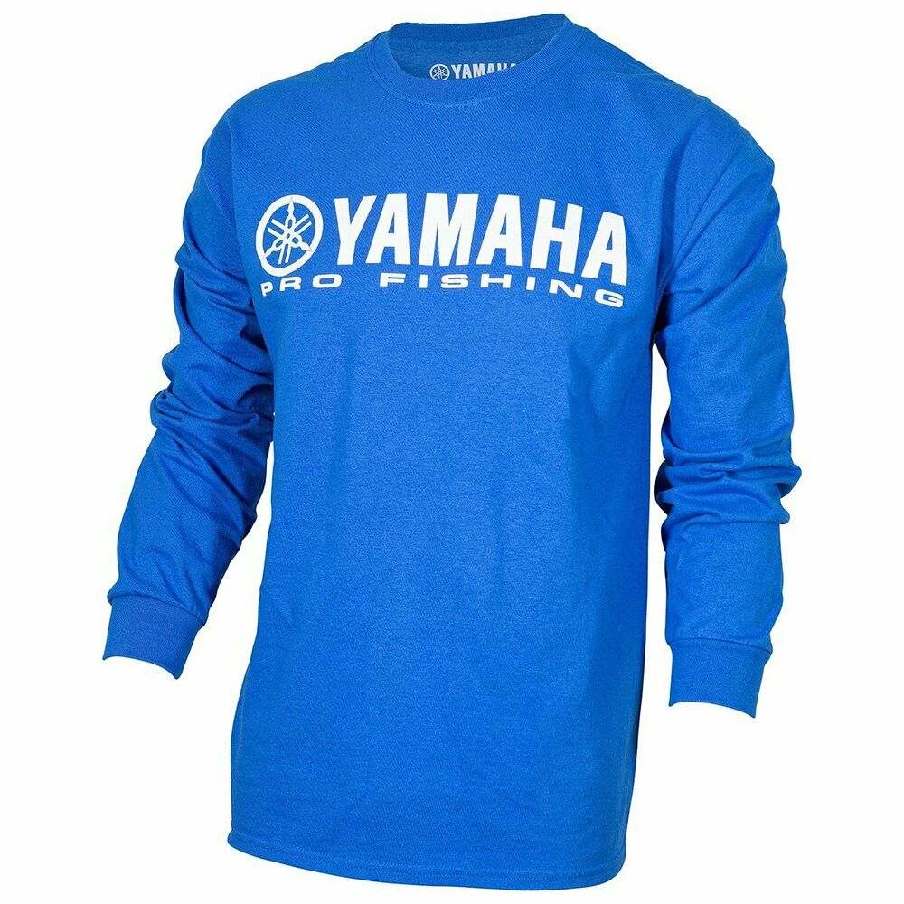 yamaha outboard pro fishing blue t shirt long sleeve x. Black Bedroom Furniture Sets. Home Design Ideas