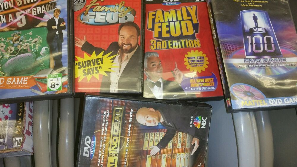 (5) FAMILY FEUD, WHO WANTS TO BE A MILLIONAIRE AND DEAL OR