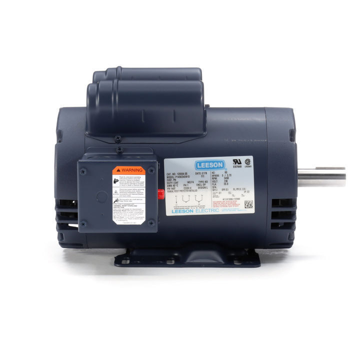 120554 00 5hp leeson electric motor  compressor duty  3450 Leeson Electric Motors Dealers Electric Motor Parts