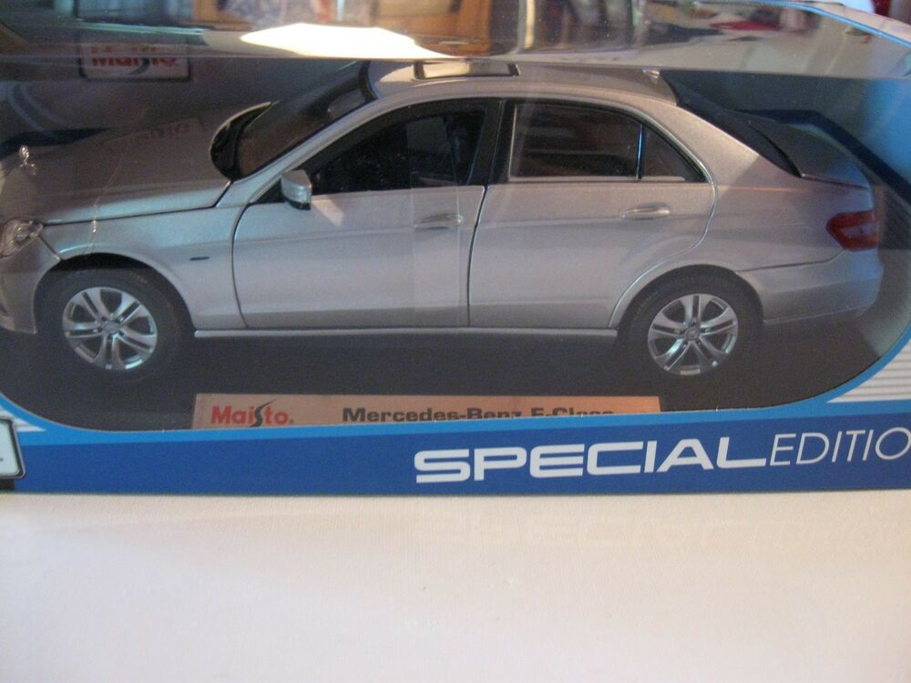 Maisto 1 18 mercedes benz e class new diecast car silver for Diecast mercedes benz