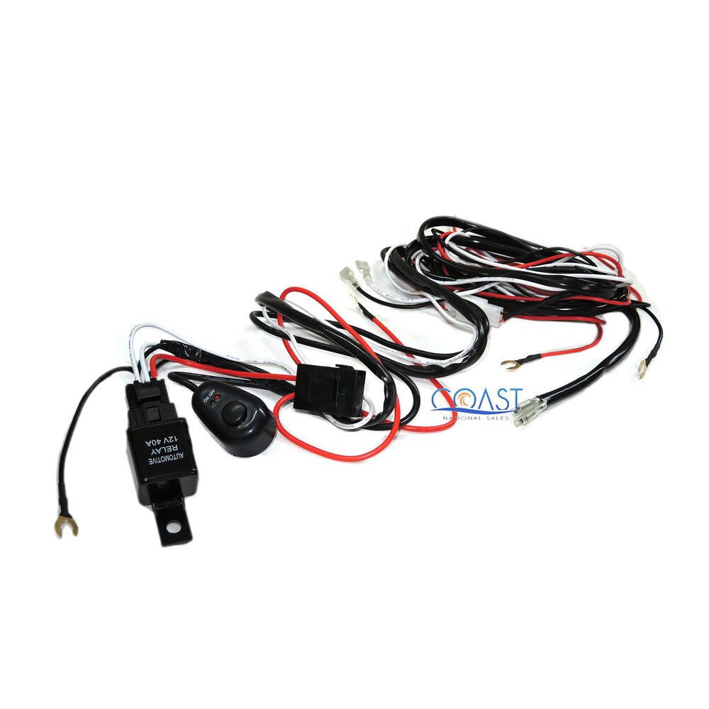 box in light bar wiring harness cree led light bar 7 ft. dual on-off switch 40a relay ... #14