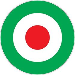 RAF Roundel Italian Green Vinyl Stickers Choice of Sizes Scooter The Who Vespa