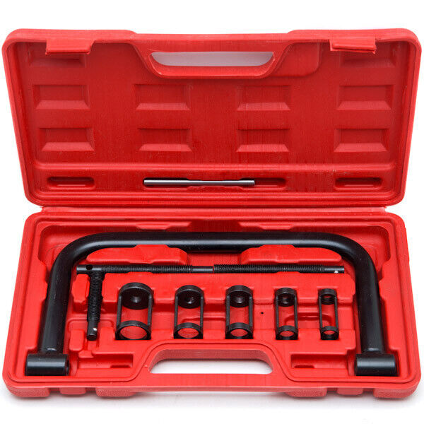 Motorcycle Engine Tools: Solid Valve Spring Compressor C Clamp Service Kit Auto