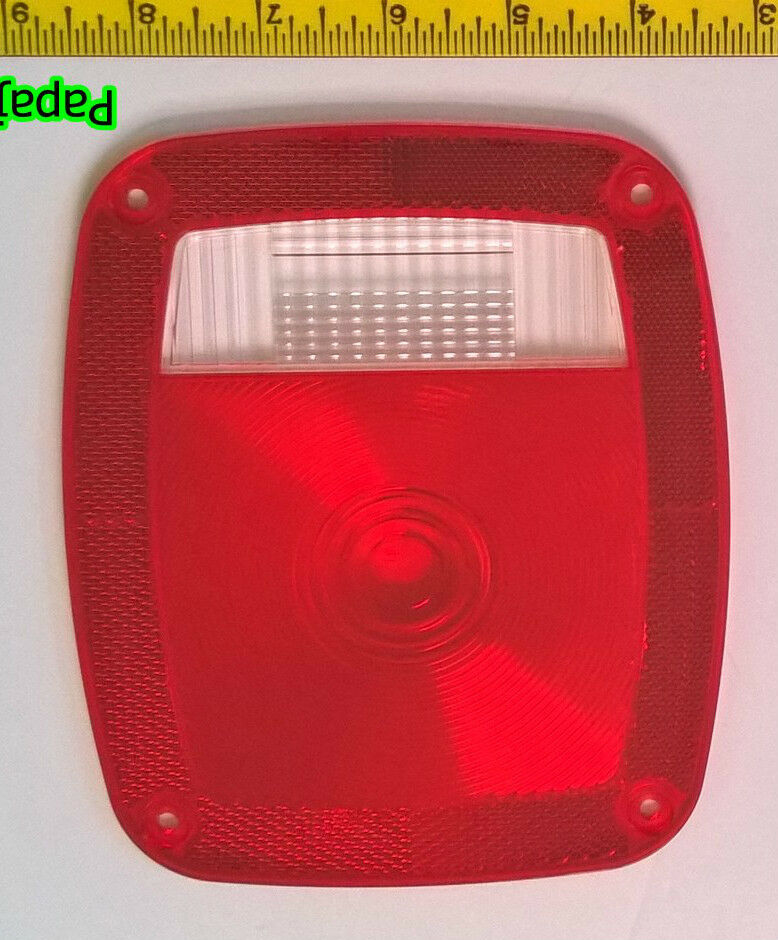 Trailer Tail Light Lens : Universal trailer tail light replacement lens red with