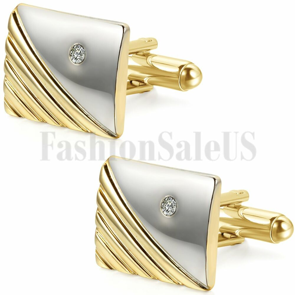 Mens Wedding Party Gifts: Mens Vintage Gold Tone Wedding Party Gift Shirt Cuff Links