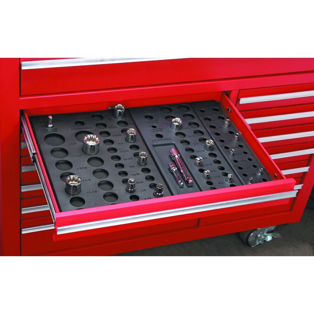 6 piece socket drawer organizers for auto mechanic garage for Garage piece auto