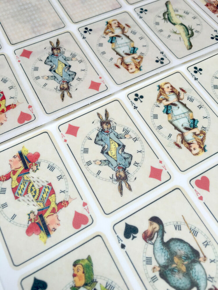 25 Alice in Wonderland Edible Playing cards ICING Toppers ...